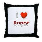 I Love Bogor Throw Pillow