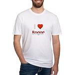 I Love Bogor Fitted T-Shirt