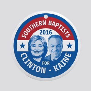 Southern Baptists for Clinton Kaine Round Ornament