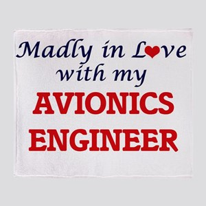 Madly in love with my Avionics Engin Throw Blanket