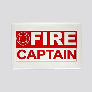 Fire Captain Rectangle Magnet