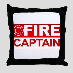Fire Captain Throw Pillow