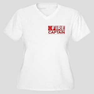 Fire Captain Women's Plus Size V-Neck T-Shirt
