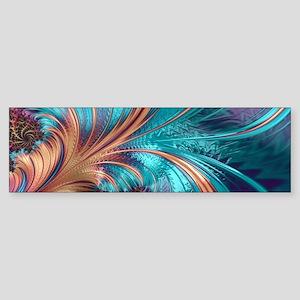 Blue Purple Feather Fractal Artisti Bumper Sticker