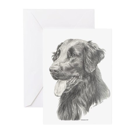 Flat Coated Retriever Greeting Cards (Pk of 20)