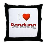 I Love Bandung Throw Pillow