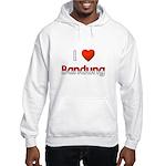 I Love Bandung Hooded Sweatshirt
