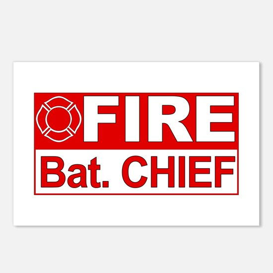 Fire Bat. Chief Postcards (Package of 8)