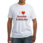 I Love Bandar Lampung Fitted T-Shirt