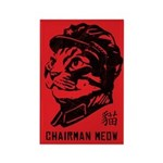 Chairman Meow Retro Cat Magnets (10 pack)
