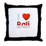 I Love Bali Throw Pillow