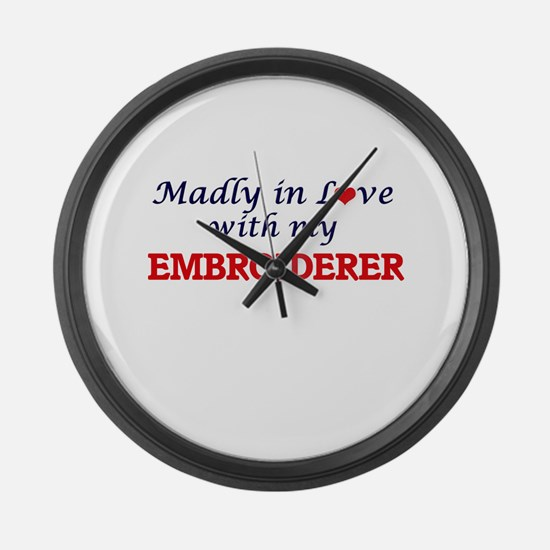 Madly in love with my Embroiderer Large Wall Clock