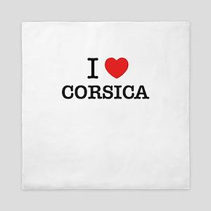 I Love CORSICA Queen Duvet