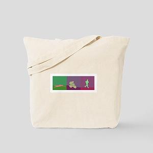 TRIATHLON SILHOUTTE NEGATIVE Tote Bag