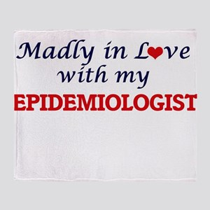 Madly in love with my Epidemiologist Throw Blanket