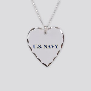 US NAVY Necklace Heart Charm