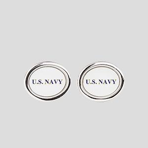 US NAVY Oval Cufflinks
