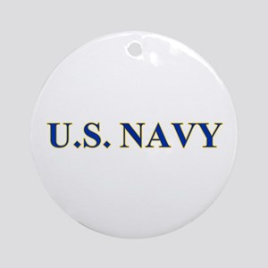 US NAVY Round Ornament