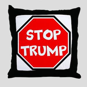 stop trump, anti trump Throw Pillow