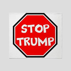 stop trump, anti trump Throw Blanket
