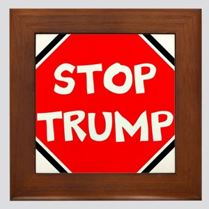 stop trump, anti trump Framed Tile