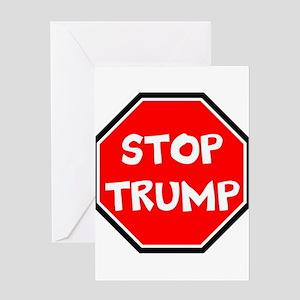 stop trump, anti trump Greeting Cards