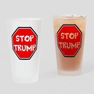 stop trump, anti trump Drinking Glass