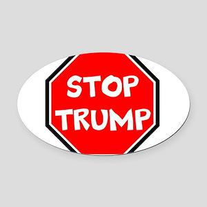 stop trump, anti trump Oval Car Magnet