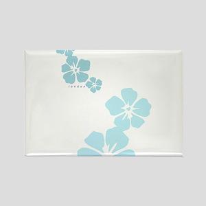 3 flowers london Rectangle Magnet