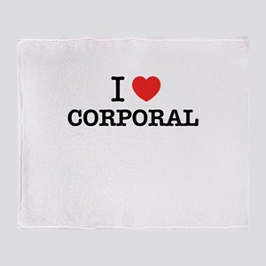 I Love CORPORAL Throw Blanket