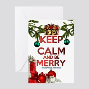 Keep Calm Merry Christmas Greeting Cards