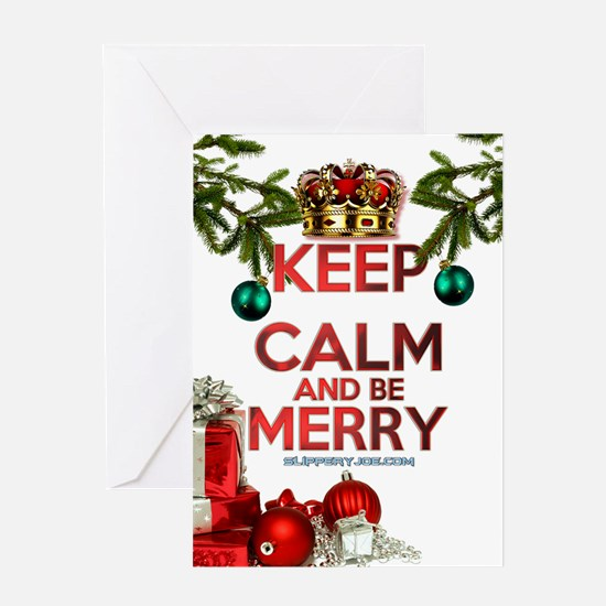 Keep Calm Merry Christmas Greeting Cards