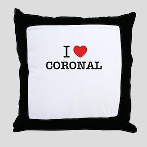 I Love CORONAL Throw Pillow