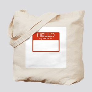 Hello My Name is - Red Tote Bag
