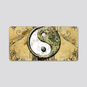 Ying and yang in noble design with floral elements