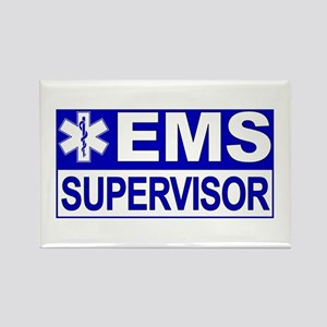 EMS Supervisor Rectangle Magnet