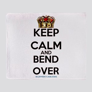 Keep Calm Bend Over Throw Blanket