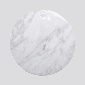 White Marble Round Ornament