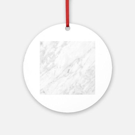 White Marble Round Ornament