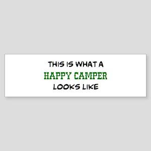 happy camper Sticker (Bumper)