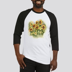 Field of Sunflower Baseball Jersey