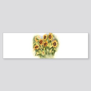 Field of Sunflower Bumper Sticker