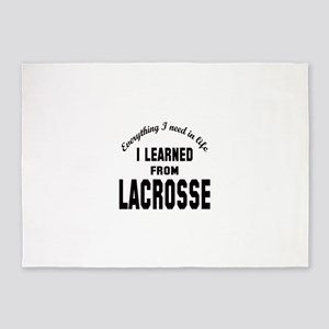 I learned from Lacrosse 5'x7'Area Rug