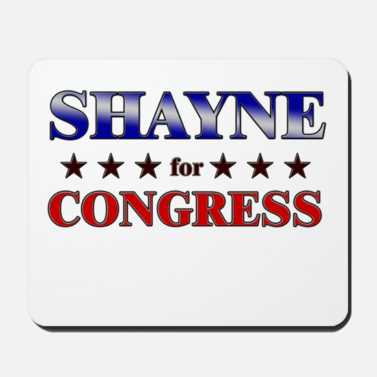 SHAYNE for congress Mousepad