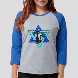 Jewish Cat Stars Long Sleeve T-Shirt
