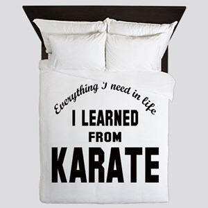 I learned from Karate Queen Duvet