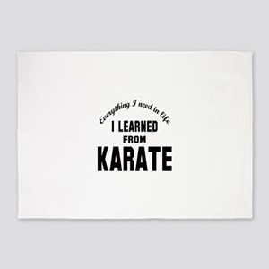 I learned from Karate 5'x7'Area Rug