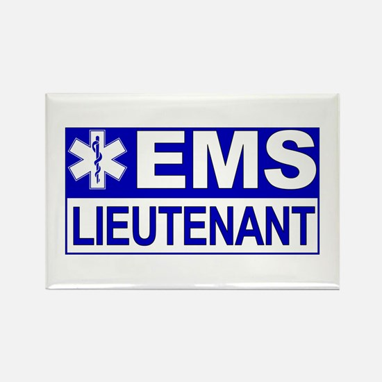 EMS Lieutenant Rectangle Magnet (10 pack)