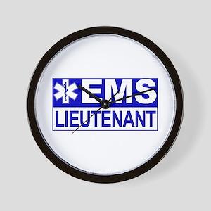 EMS Lieutenant Wall Clock