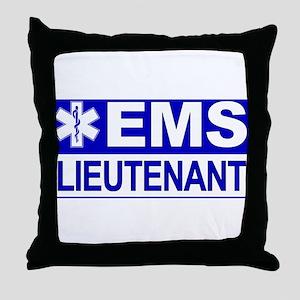 EMS Lieutenant Throw Pillow